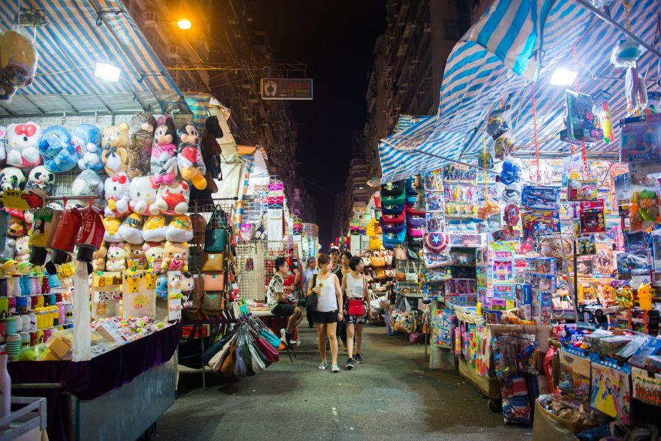 Ladies Market Shopping Hong Kong